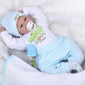 POUPÉE 22 polegada Lifelike reborn poupées bébés silicone