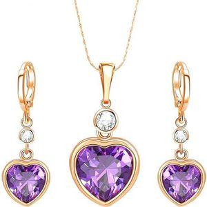 PARURE Parure Bijoux Swarovski elements  Lilas Violet