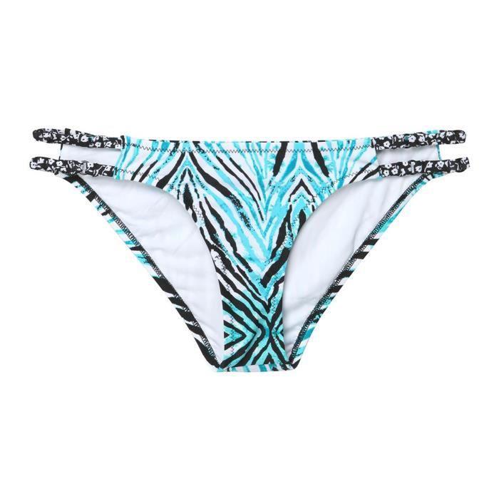 VOLCOM Bas de Bikini Wild Marks - Femme - Bleu