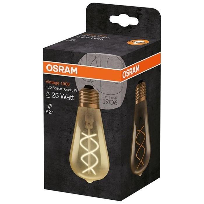 AMPOULE - LED OSRAM Ampoule LED Edison filament spirale E27 Vint