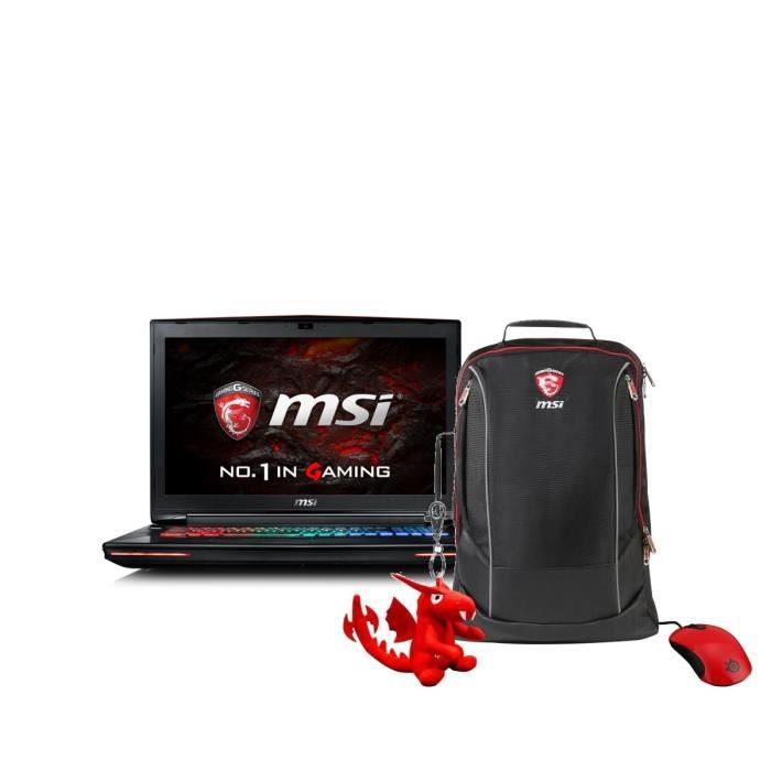 Msi pc portable gamer gt72vr 6rd 247xfr 173 ram 16go core i7 6700hq gtx 1060 stockage 1to 128 go ssd pack gaming