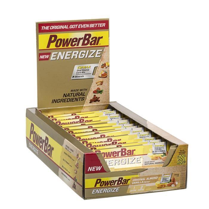 POWERBAR Lot de 25 barres Energize - Amande vanille - 55 g