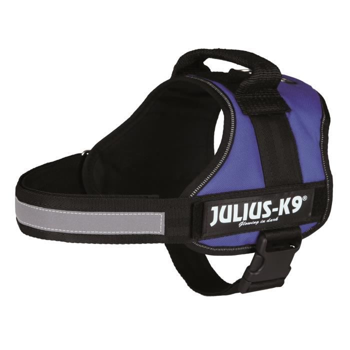Harnais Power Julius-K9 - 0 - M-L : 58-76 cm-40 mm - Bleu - Pour chien