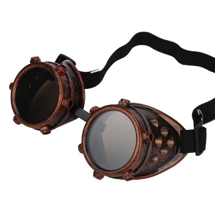 Deuxsuns®Steampunk coupe-vent bricolage interchangeables Lens Punk verres accessoires en laiton couleur@zf295