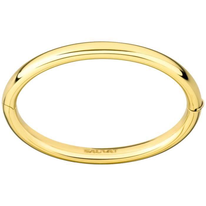 Bracelet Brillaxis jonc fil rond 6mm or 18 carats