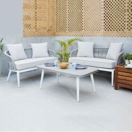 Salon de jardin aluminium 4 places - Achat / Vente pas cher