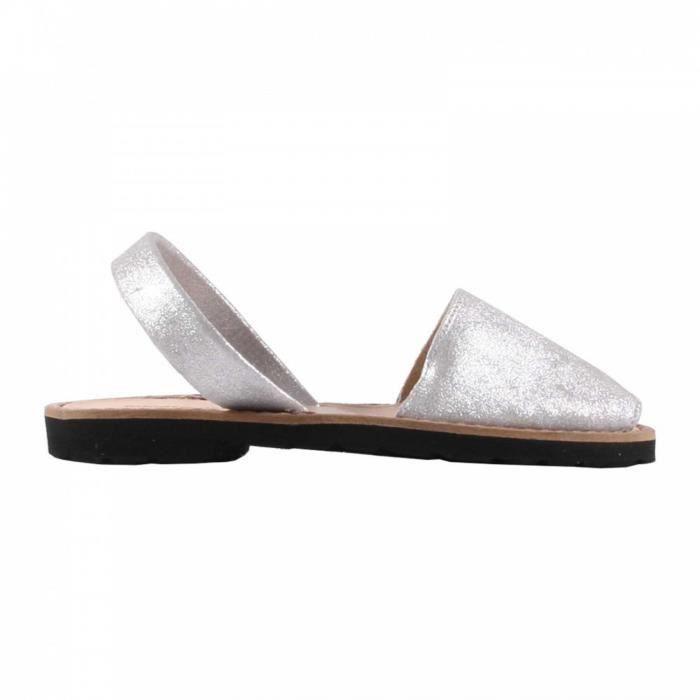 Sandales enfant en cuir argenté - Argent