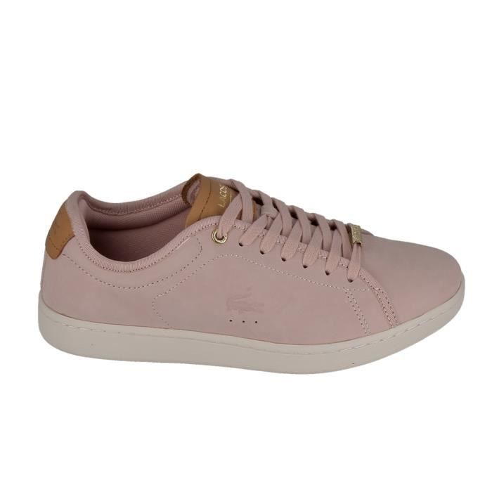 ad4c1c82275 Basket -mode - Sneakers LACOSTE Carnaby Evo 317 8 Rose Marron Rose ...