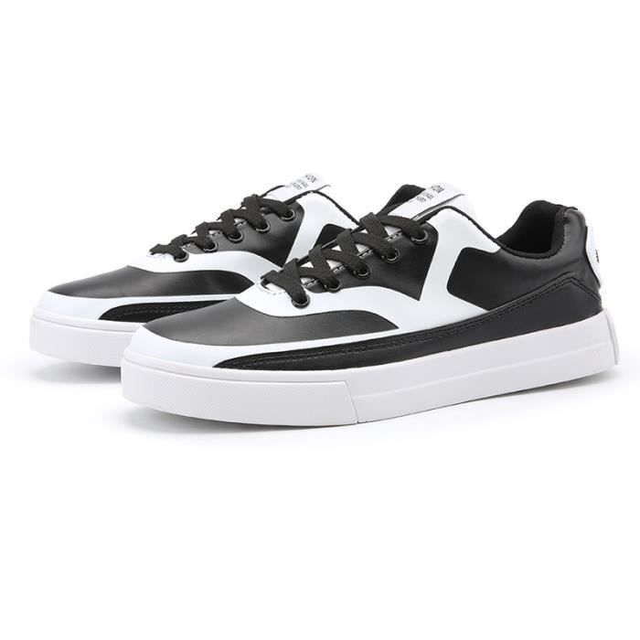 Baskets Femme Casual Sneakers Chaussures Plates Noir b8KEBx97