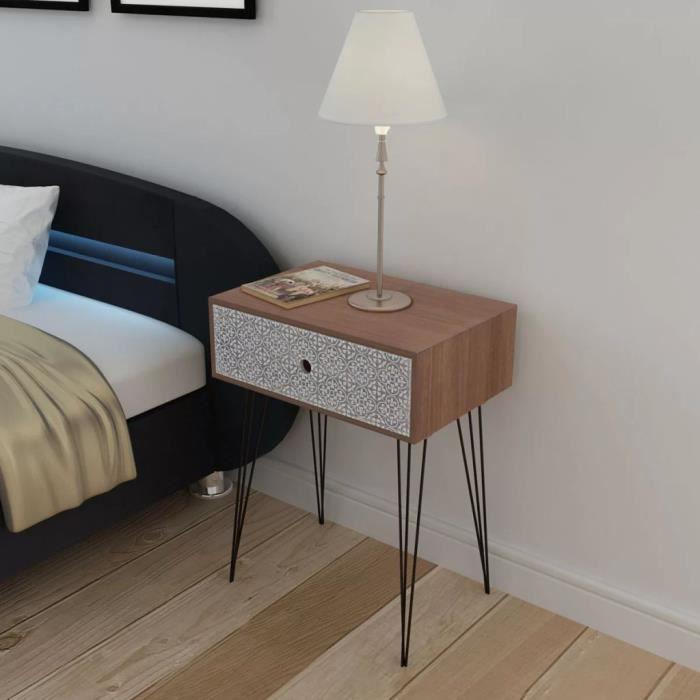Tables de Chevet Table de Nuit scandinave contemporain moderne 44 x ...