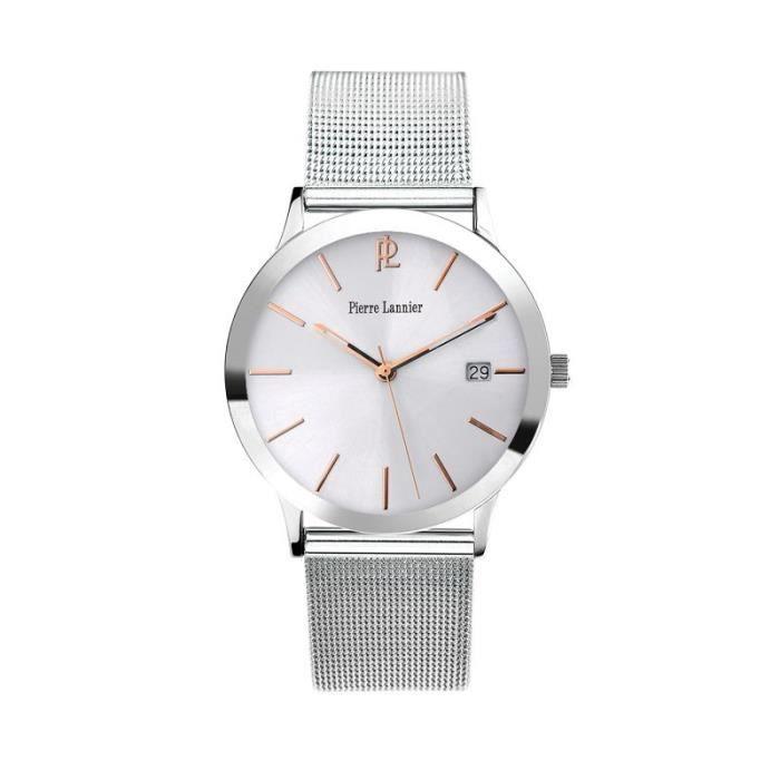 e569977e1c540 Montre Homme Pierre Lannier Elegance Style - 252D128 - Bracelet Milanais
