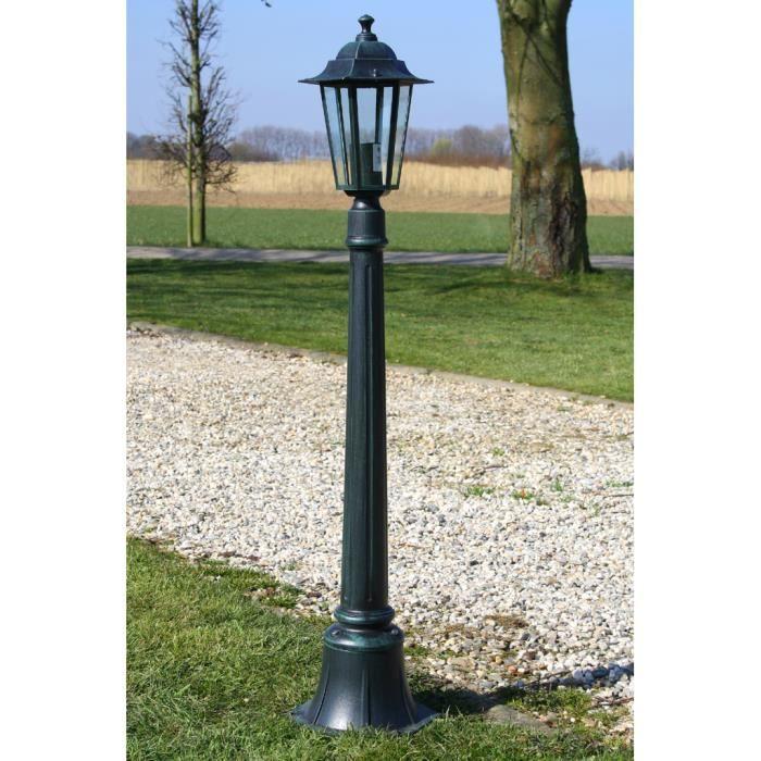 Lampadaire d\'extérieur Vert foncé en aluminium Hauteur 105 cm lampe ...