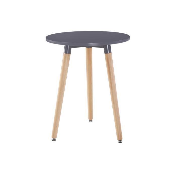 TABLE À MANGER SEULE Table ronde ø60xH72cm Gris