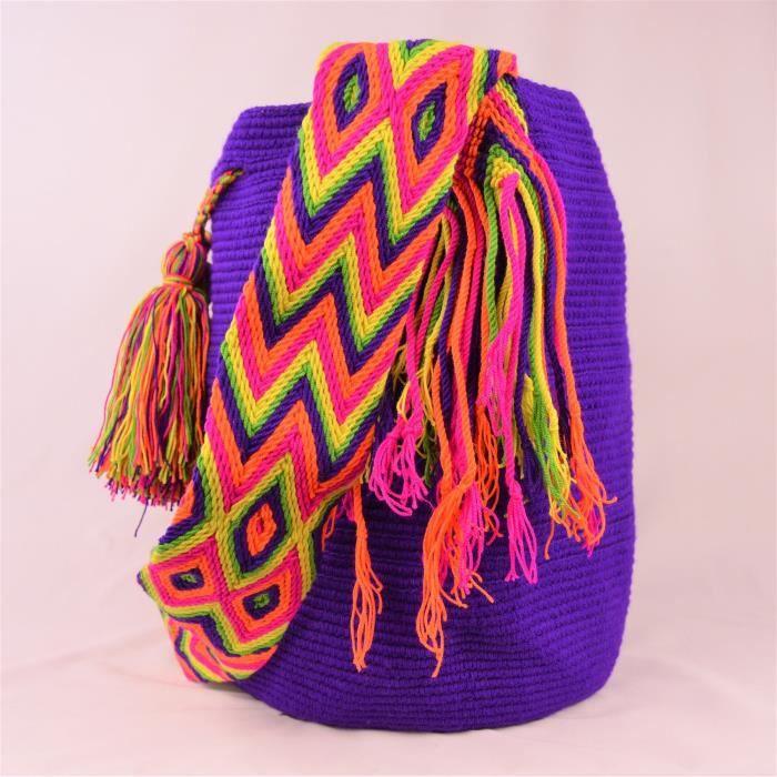 Wayuu 3196 solide WIXNC Mochila Grand Sac rpUFr