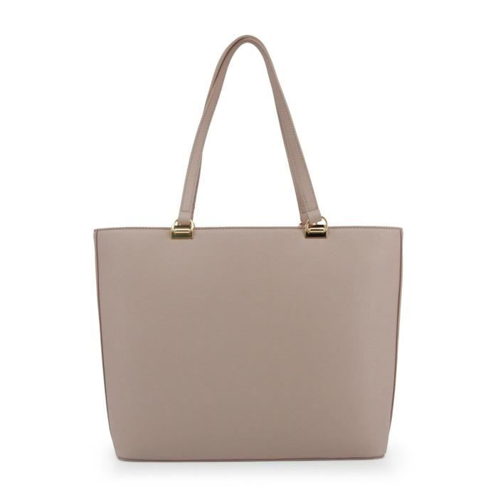 Sac cabas nude femme détail chaine Love Moschino Brun