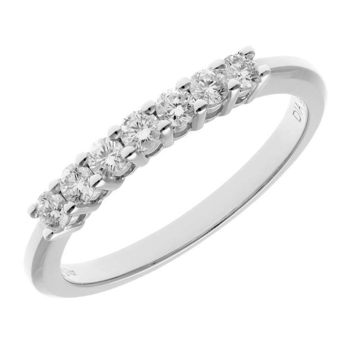 Revoni Bague alliance Diamant Platine 950° Femme: Poids du diamant : 0.33 ct - CD-PR03644PTJPK-P