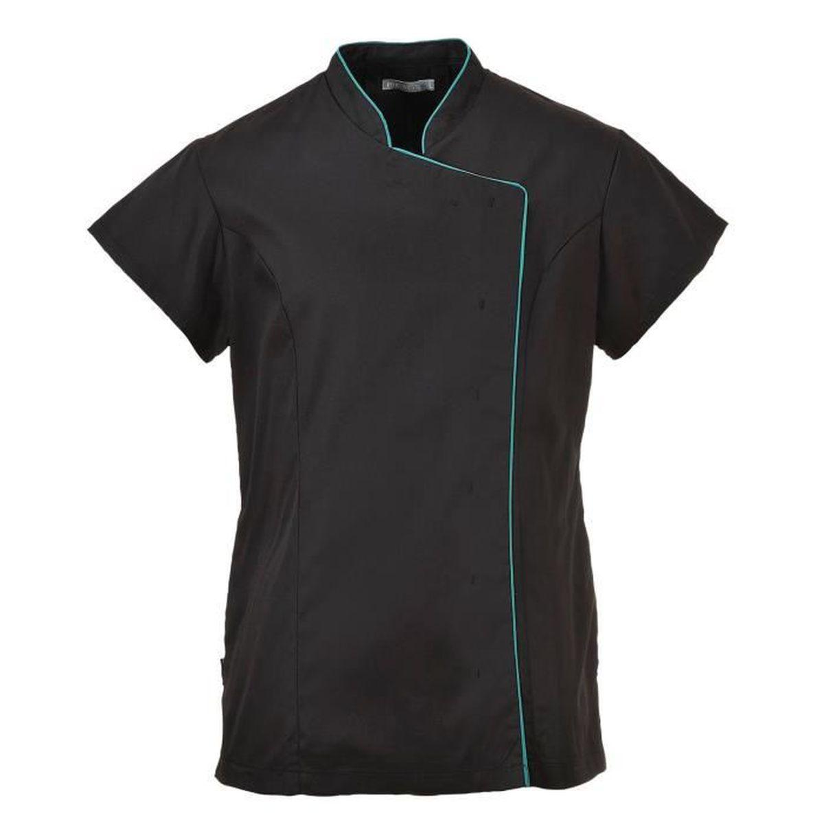 blouse de travail noire femme achat vente pas cher. Black Bedroom Furniture Sets. Home Design Ideas