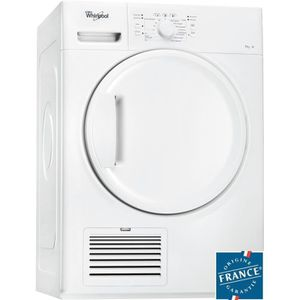 WHIRLPOOL DDLX80113 - S?che-linge ? condensation 8kg Blanc