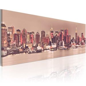 TABLEAU - TOILE Tableau - New York - City of Light - Size: 150x50