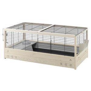 ACCESSOIRE ABRI ANIMAL Arena 120 Lapin Cage en bois, 125 X 64,5 X 51 cm,