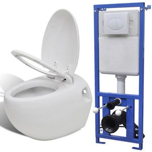 WC - TOILETTES Toilette murale avec réservoir caché Design d'œuf