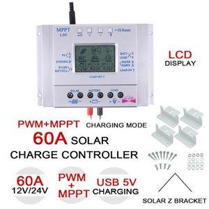 AUTOMATE PROGRAMMABLE l'ivc 60a 12v / 24v mppt panneau solaire contrôleu