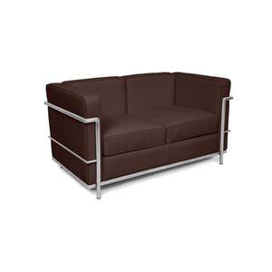 Canape Design Lc2 Inspire Charles Le Corbusier 2 P Achat Vente
