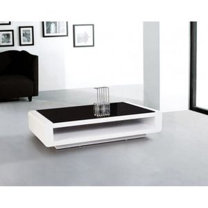 Table Basse Miami Blanc Verre Achat Vente Table Basse Table