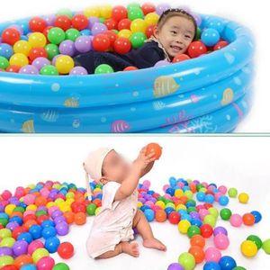 PISCINE À BALLES 100 X 5.5cm Balles Boules Plastique Pe Multicolore