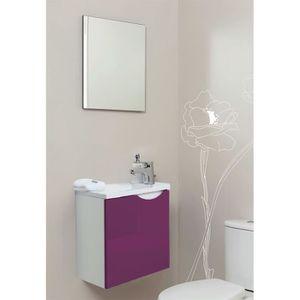 MEUBLE VASQUE - PLAN Meuble lave-mains à suspendre + miroir Vence Auber