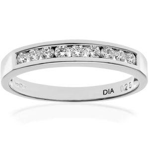 BAGUE - ANNEAU Revoni Bague alliance Diamant Or Blanc 750° Femme: