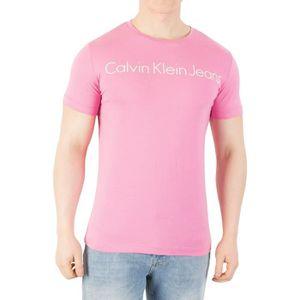 Calvin Graphique Klein Shirt Homme MinceRose Jeans T IE2YWHD9