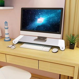 FIXATION ÉCRAN  Aluminium Moniteur USB Riser Stand Support Pr PC L