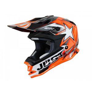 CASQUE MOTO SCOOTER Casque Cross Just1 J32 Moto X Orange Taille M