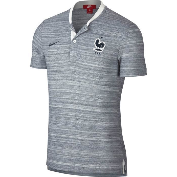 France Authentique Blanc Fff Football De Homme Polo Nike F6AOnxXF