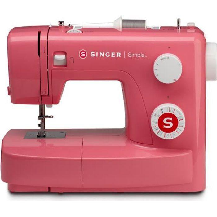 SINGER Machine à coudre SIMPLE 3223 - 70W - 23 points - Rouge
