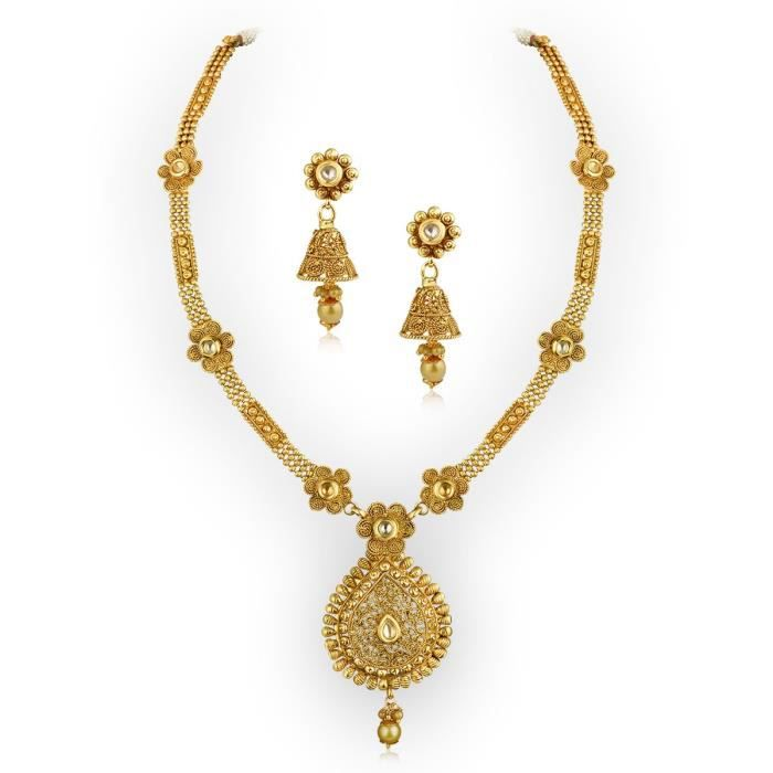 Womens New Fashion Gold Plated Brass Metal Necklace Set ForXJFLL