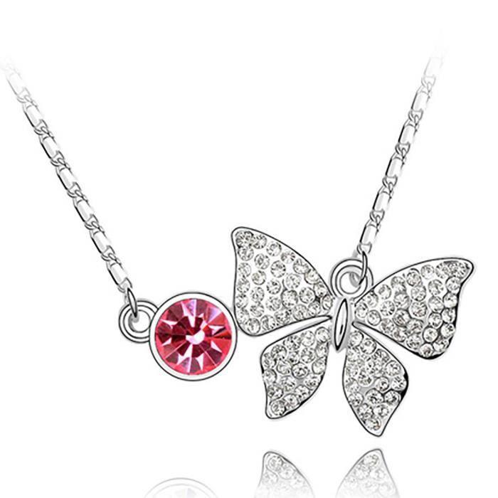 Cadeaux Valentine Spécial Femmes trésor intemporel « rêve de Chasers » Rose cristaux de Swarovski Pend AVAAE