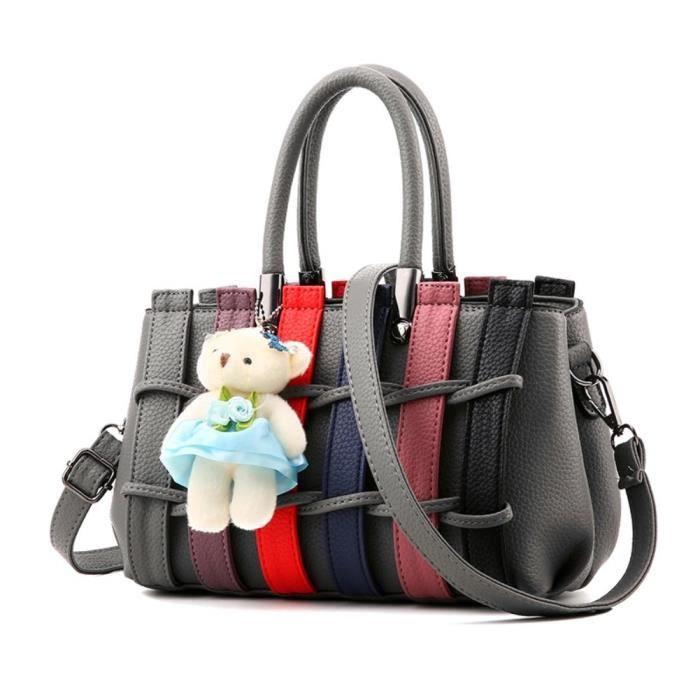 Top coloré poignée Satchel Sacs à main épaule sac sac fourre-tout BOQNC