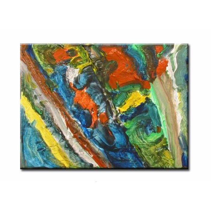 Décoration Murale Tableau Peinture Grands Tableaux Déco Mur Triptyques  Peintures Idée Cadeau Déco Prairie Colorée