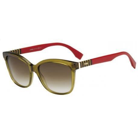 Achetez Lunettes de soleil Fendi Femme FF 0054 S MQZ DB rouges et ... d2da332de8cc