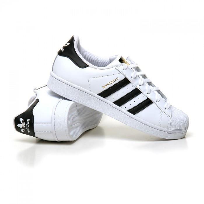 Adidas Superstar C77154 Blanc/ noir - Achat