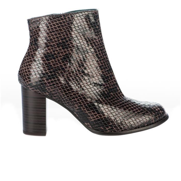 Boots femme - KARSTON - Marron - 483711