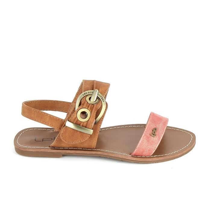 Nu pieds et sandales LPB Pervenche Rouge