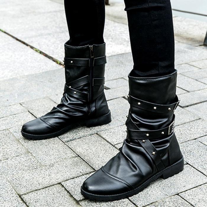 GLAM®Bottes d'hiver Hommes Chaussures de course à pied Chaussures militaires