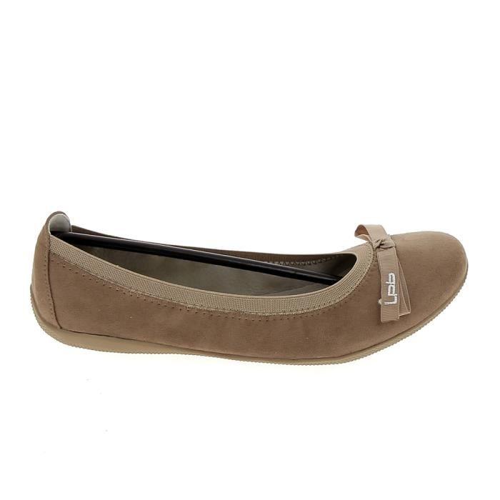 Chaussure de ville LPB Ella Velours Taupe