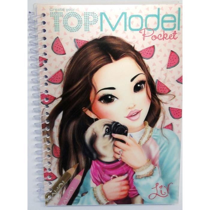 Carnet coloriage poche 3d topmodel liv achat vente livre de coloriage carnet coloriage - Top model coloriage livre ...