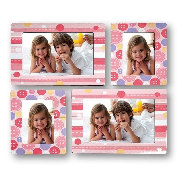 girly stickers muraux cadre 4 photos enfant achat. Black Bedroom Furniture Sets. Home Design Ideas