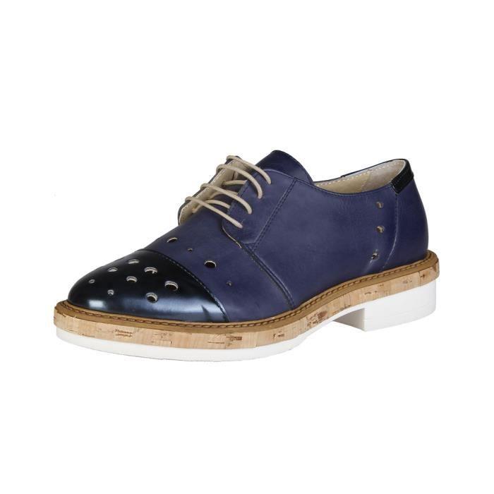 Made in Italia - Chaussures à lacet pour femme (LETIZIA_BLU) - Bleu