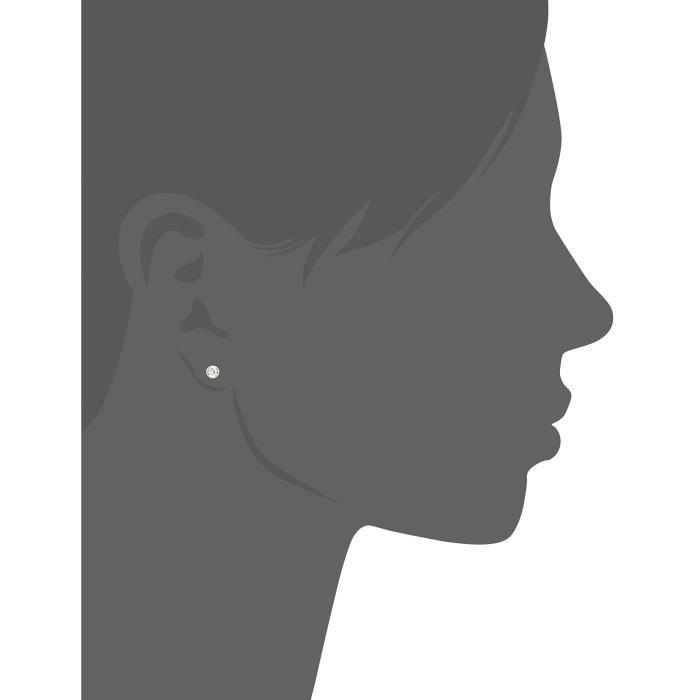 0010160013401 - Boucles Doreille Femme - Or Jaune 8 Cts 333-1000 - Oxyde De Zirconium A5KGH